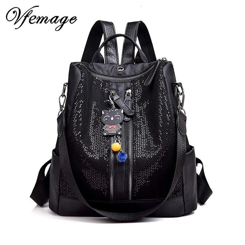 8695b09a3a0e Fshion для женщин рюкзаки 2019 сверкающих женский рюкзак Oxford школьные  рюкзаки для девочек Bookbag женский Универсальный