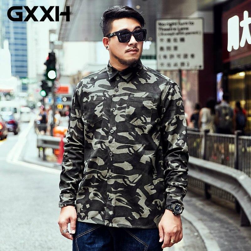 GXXH koszula męska jesień taktyczne armii koszula mężczyzna z długim rękawem kamuflaż wojskowy Shirt czystej bawełny koszula duży rozmiar XXL 5XL 6XL 7XL na AliExpress - 11.11_Double 11Singles' Day 1