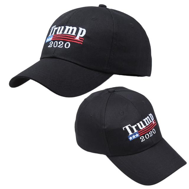 Casual leisure hats Adjustable Summer Make America Great Again MAGA Trump  2020 Solid Color Snapback Baseball Cap Hat BLACK f4f710225f9