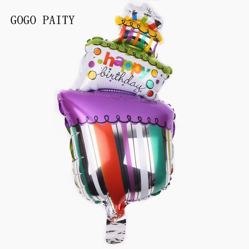 GOGO PAITY Free Shipping Mini Cakes Membrane Balloon Toys For Children Birthday Party Decoration Balloon Wholesale
