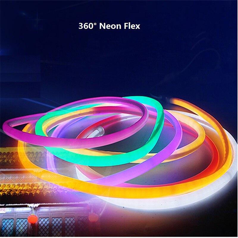 1 10m 16mm standard diameter round neon flex 120pcs 2835 m. Black Bedroom Furniture Sets. Home Design Ideas
