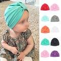 Elegido Muchachos de Los Bebés Infant Toddler Algodón Suave Turbante Nudo Cap Beanie Hat