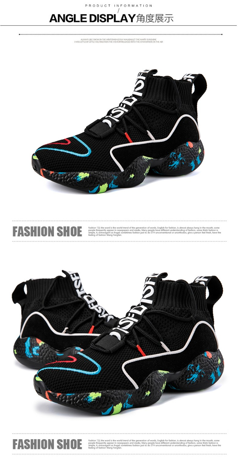 Shoes For Men Sneakers Casual Men Sock Shoes Breathable Tenis Masculino Adulto High Top Man Trainers Zapatos Hombre Sapatos