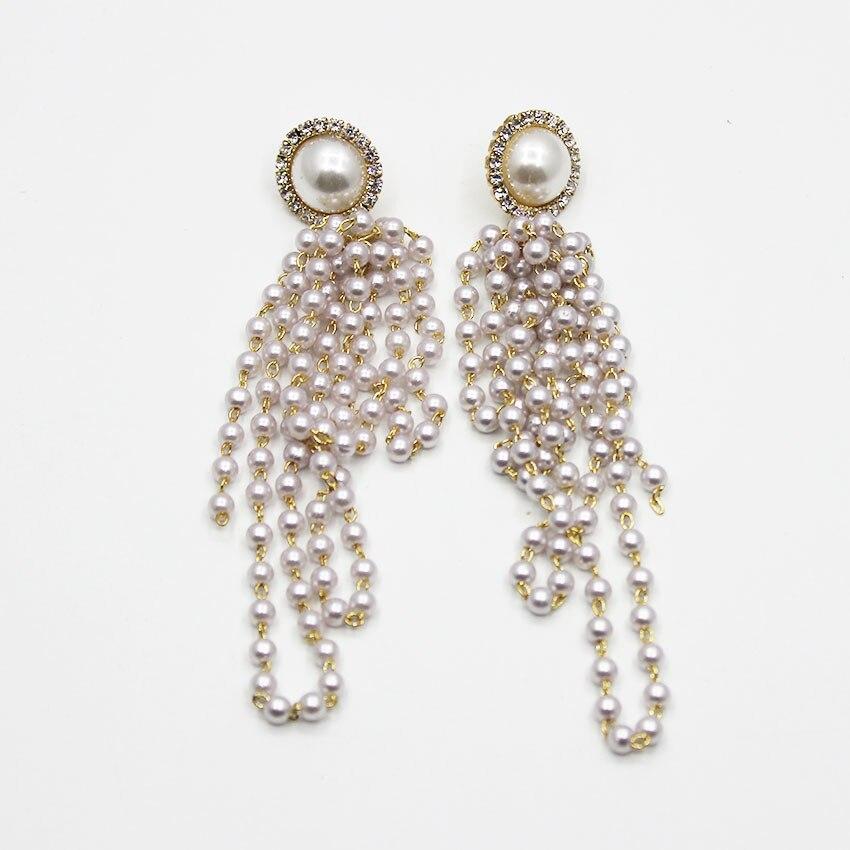 Nouveau Baroque perle gland rétro mariée boucles d'oreilles de mariage bijoux de mariage accessoires 756