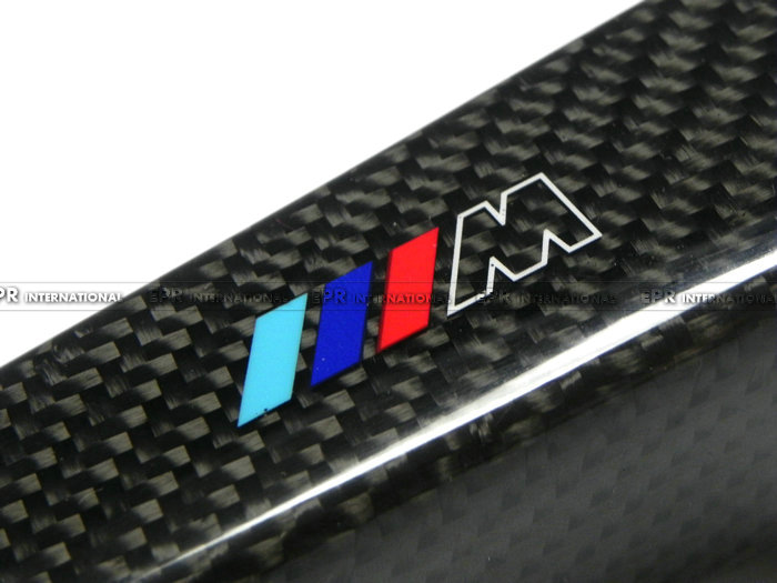 Car-styling For BMW ///M Real Carbon Fiber Handbrake Cover Fitting Kit E87 E90 E92 E60 E63 E64 M5 M3 M-TEC car acessories carbon fiber interior cover trim fit for bmw all models hand brake knob with m logo car styling