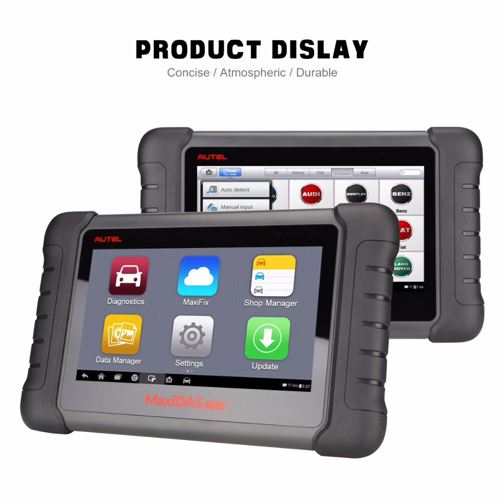 Image 3 - Autel MaxiDas DS808 Automotive Tools OBDII Diagnostic Tool Key Coding OBD2 Scanner Multi language as Autel MS906 ECU Coding OBD-in Car Diagnostic Cables & Connectors from Automobiles & Motorcycles