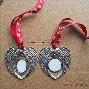 Image 4 - 昇華クリスマス天使の羽の形パーソナライズ空白消耗品用品ホット転写印刷材料 10 ピース/ロット