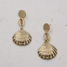 Gold/Silver Shell Earrings For women Summer Beach Long Earring Conch Bohemian Earing Jewelry pendientes concha