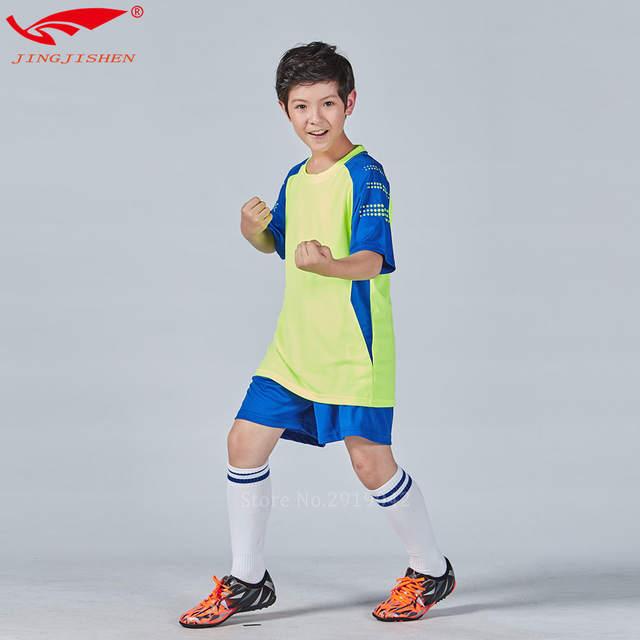 Soccer Jersey Set Youth Kids survetement training Child Kids Football Kits  Boys Soccer Sets Jersey Uniforms 33986b743
