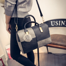 Hot-selling women bag Trend of cellular PU bag big bump color stitching worn one shoulder dual cylinder package