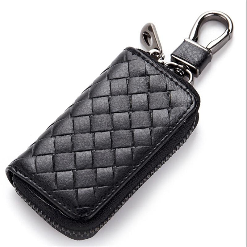2020 High Quality Genuine Leather Car Key Wallets Zipper Keys Case Bag Vintage Men Card Money Holder Housekeeper Keychain Cover