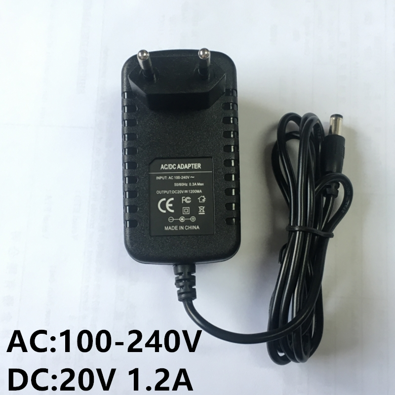500PCS UK EU LE DC 20V 1.2A Power Supply Adapter, AC 100-240V to DC 20V Transformers, Switching Power Supply for 20V 3528/5050 500pcs uk eu le dc 12v 2a power supply adapter ac 100 240v to dc 12v transformers switching power supply for 12v 3528 5050