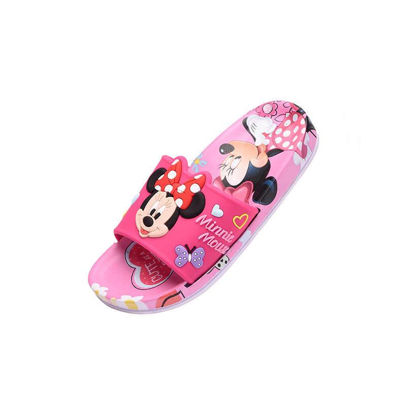 2019 รองเท้าแตะเด็กฤดูร้อน Mickey บ้านลื่นรองเท้าสาว Minnie การ์ตูนรองเท้าแตะเด็กในร่มขนาดรองเท้า 30-35