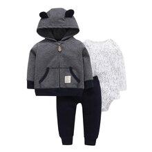2018 Förderung Direct Selling Mode Baumwolle Baby Jungen Offizieller Newborn Kleidung Für Bebek 3-teilige Kleine Caps Set