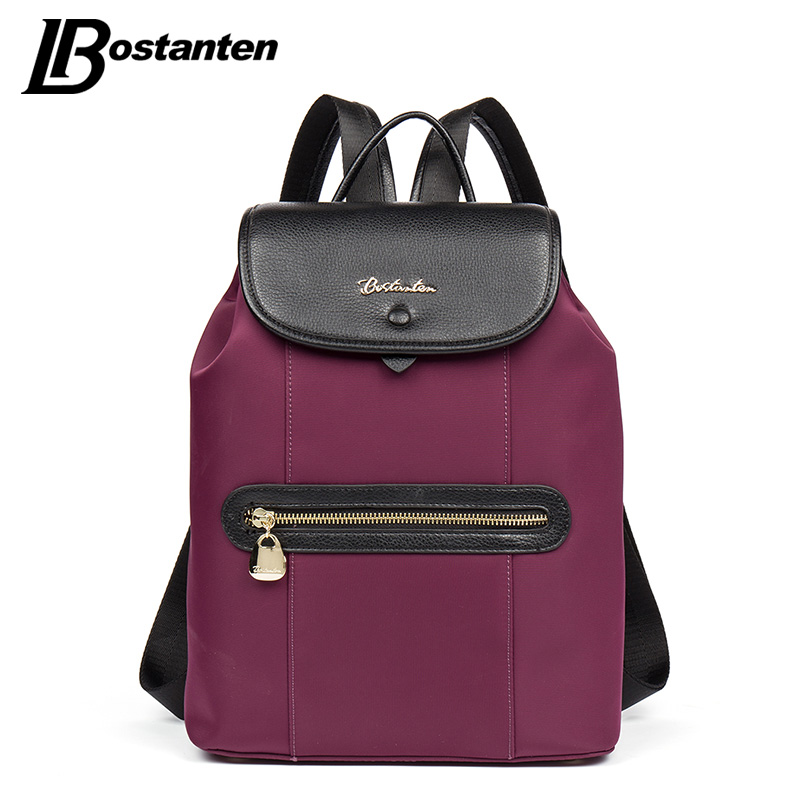 BOSTANTEN High Quality Women Leather Backpack School Bags for Teenage Girls Casual Travel Female Shoulder Bag Bagpack mochila sminica cat bag cute backpack for women high quality fashion shoulder school bags for teenage girls back pack 2017 bagpack black