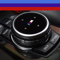 High Quality ABS Idrive Car Multimedia Buttons Cover Car Emblem Stickers For BMW X1 X3 X6