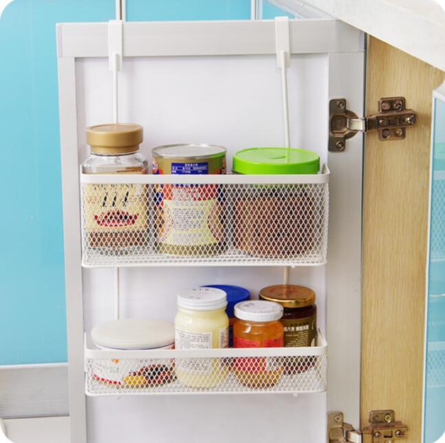 Seamless Hanging Basket Kitchen Cabinet Door After Storage Rack Spice Organizer