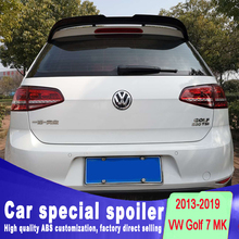 2013 2014 2015 2016 2017 2018 2019 for Volkswagen Golf 7 MK7 Spoiler rear window roof spoiler Golf Rear Spoiler by primer paint high quality abs for volkswagen vw golf 7 r r line gtd gti spoiler 2014 2015 2016 2017 rear window roof spoiler vw golf spoiler