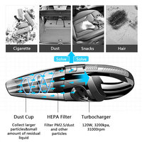 Durable Vacuum Cleaner USB 3100 (R/Min) Dirt Cleaner Car Vacuum Cleaner Cyclonic Auto Vacuum Cleaner