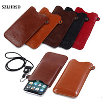 SZLHRSD Mobile Phone Case Hot Selling Slim Sleeve Pouch Cover Lanyard For Prestigio Grace R5 LTE