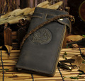 Cattle Men male Organizal design vintage crazy horse Genuine leather Credit Card Cash Wallet Purse