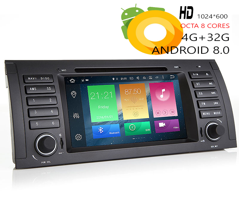 Sale HIRIOT 7 IPS Android 8.0 CAR DVD GPS Player For BMW E39 E53 1995-2003 M5 X5 Octa 8 Core 4G RAM 32G ROM Radio BT Map DAB+TPMS SD 0