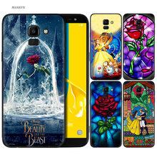 Silicone Case For Samsung Galaxy J4 J6 A6 A8 Plus A7 A9 J8 2018 A5 2017 Soft Cover Shell Beauty And The Beast anime love(China)