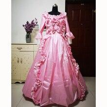 купить New pink Vintage costumes 18th Duchess Retro medieval Renaissance Reenactment Theatre Civil war Victorian dress D-268 дешево