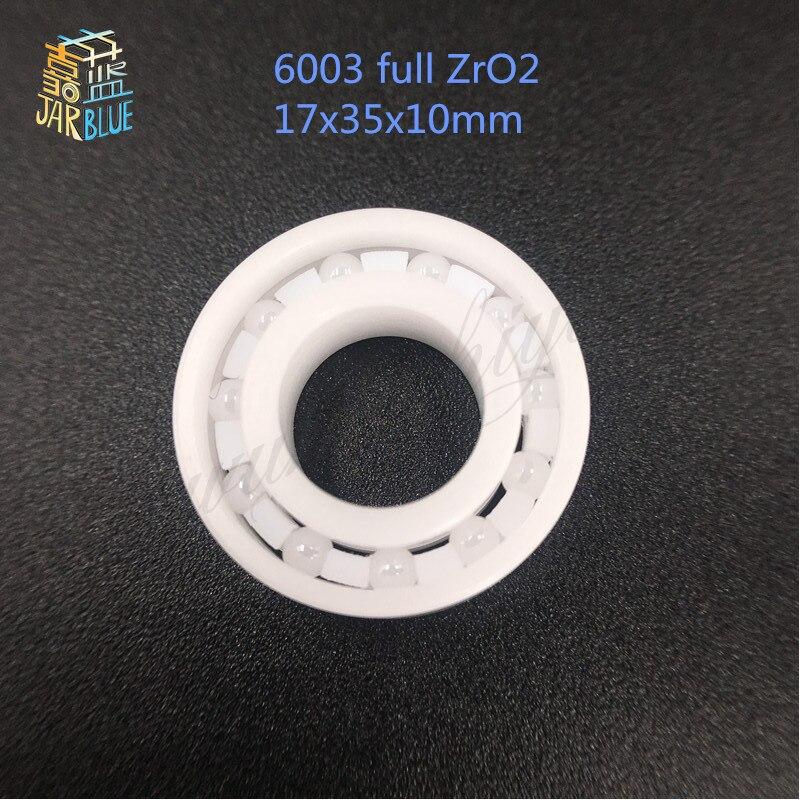 Free shipping high quality 6003 full ZrO2 ceramic deep groove ball bearing 17x35x10mm free shipping high quality mr115 full zro2 ceramic deep groove ball bearing 5x11x4mm