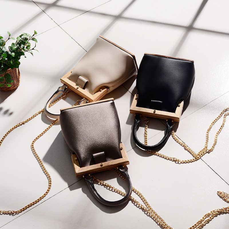 Женская винтажная сумка-мессенджер богемная Ретро деревянная сумка-мешок роскошная женская сумочка вечерняя