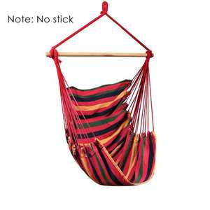 Hanging Chair Hammock Swing-Bed Garden-No-Sticks Travel Collapsible Portable Camping
