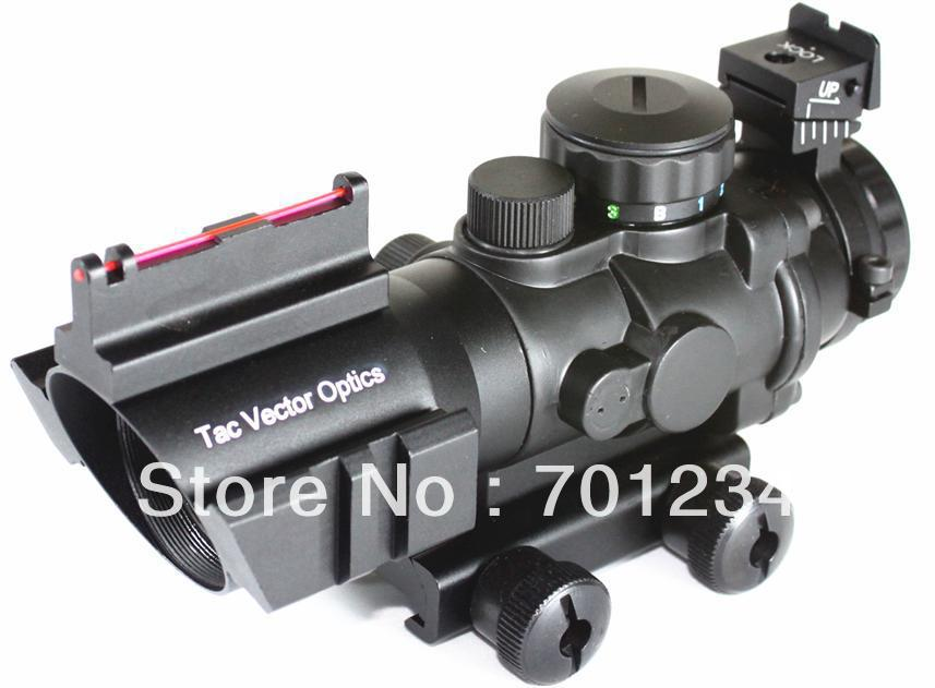Vector Optics 4x32 Compact Sniper Rifle Scope 3Colour Illuminated Reticle 223 5 56 AR15 M4 Weapon