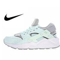 Nike Air Huarache Run премиум женские Оригинальные кроссовки женские уличные удобные спортивные кроссовки зеленые и серые цвета 634835