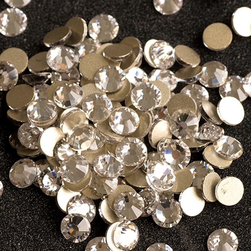 Aliexpress Com Buy 1440pcs Gold Bottom Crystal Clear: Aliexpress.com : Buy YANRUO 2058NoHF SS20 Crystal Clear