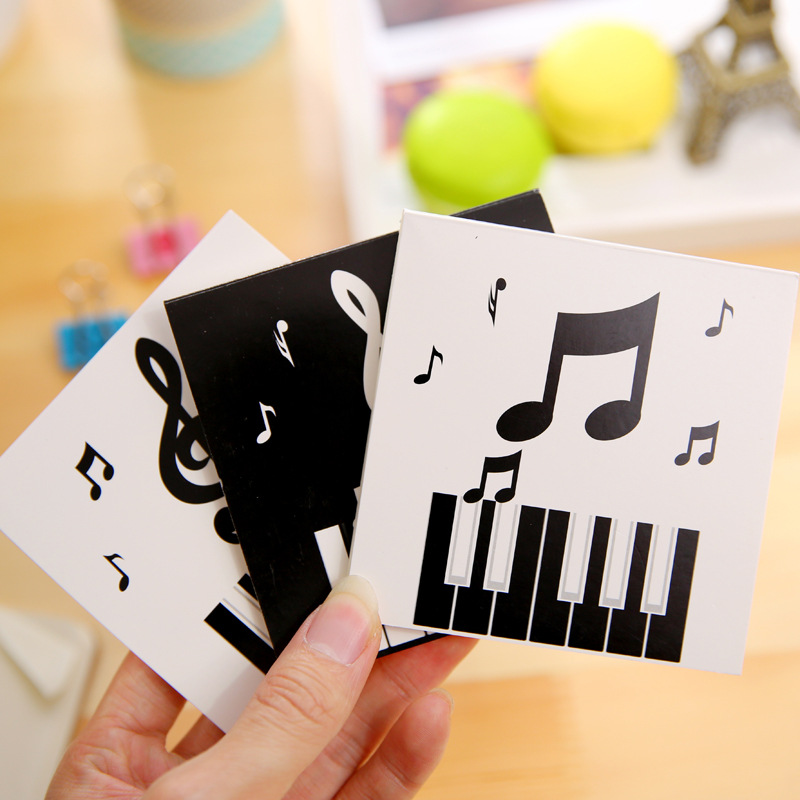 Cute Kawaii Piano Day Weekly Month Plan Memo Pad Post It Note Sticky Paper Korean Stationery Planner Notebook School Office