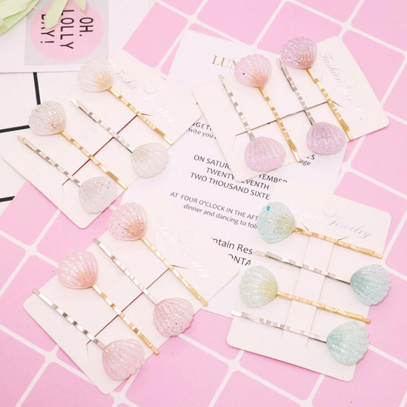 4pcs Fashion Girls Women Cute  Glitter Acrylic Shell Hairpins Lovely Holiday Candy Colors Hair Clips Shiny Shell Hair Pins-in Women's Hair Accessories from Apparel Accessories on Aliexpress.com | Alibaba Group