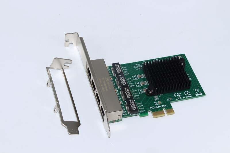 4-Port Gigabit Ethernet Network Card Server Adapter RJ45 Connector 10/100/1000Mbps PCIE PCI Express Network Card for Desktop