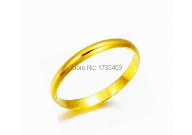 Véritable 2.0G solide 999 24 K or jaune/Design lisse parfait taille de bague 11