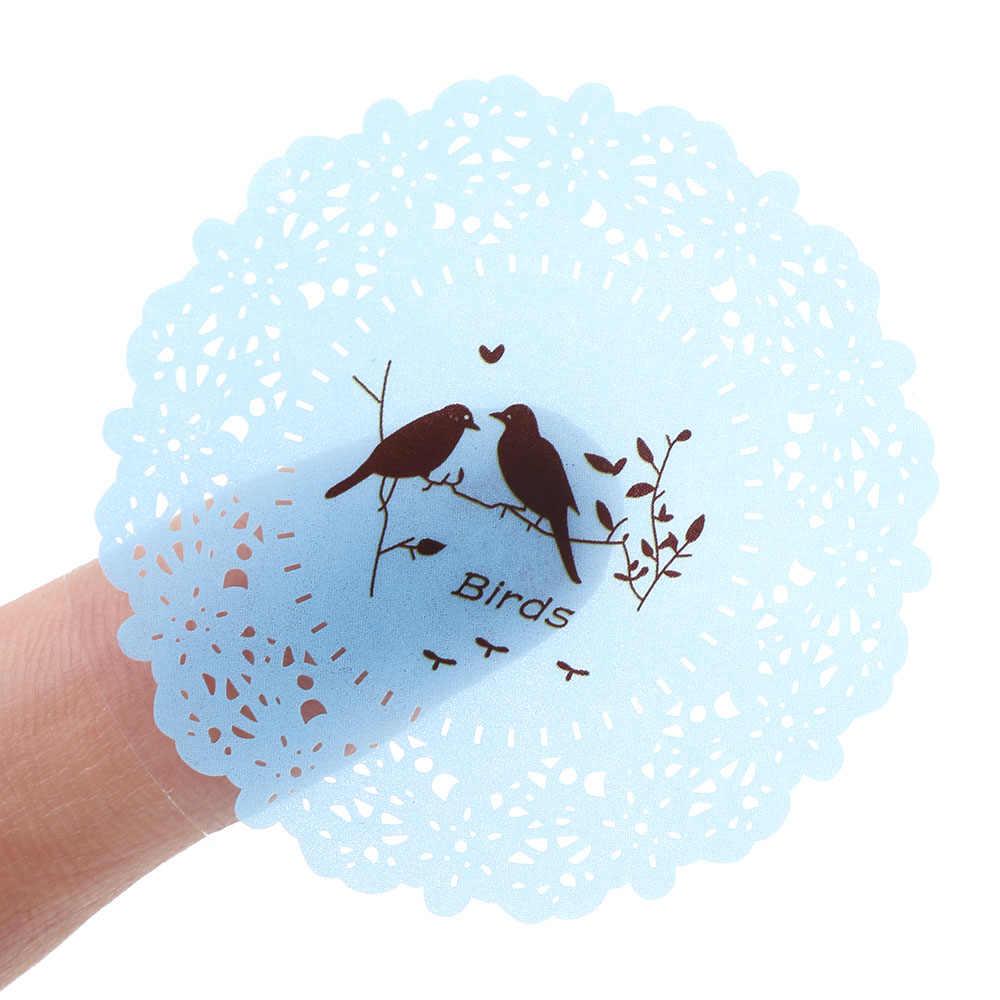 ลูกไม้พิมพ์พลาสติกซีลตกแต่งป้ายด้วยตนเองกาวสติกเกอร์กระดาษคราฟท์ป้ายสติกเกอร์ DIY Hand Made กระดาษ