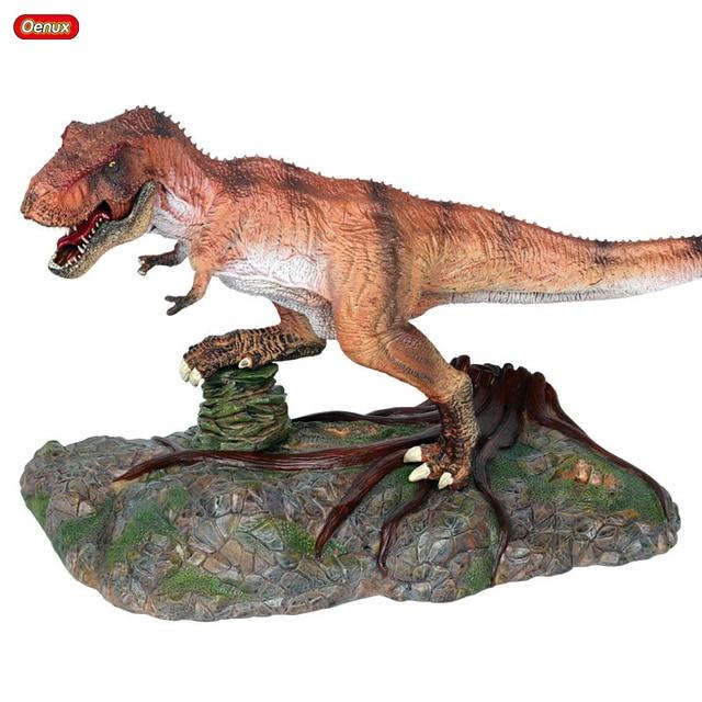 Oenux Carnívora Indominus D-REX Rei Dos Dinossauros Tiranossauro Rex Grande Dinossauro Jurassic Animais Figuras de Ação Toy Presente para Crianças
