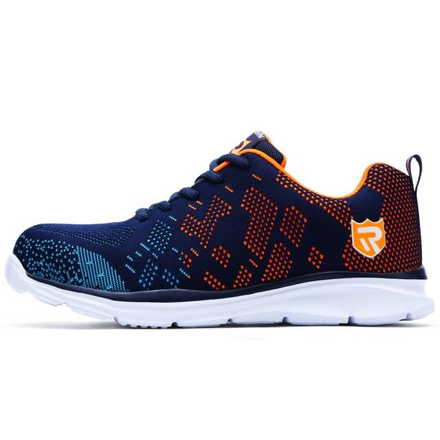 e15132b8ee1b MODYF Men Safety Shoes Steel Toe Work Shoes Ultra Lightweight Breathable  Sneaker Casual Footwear