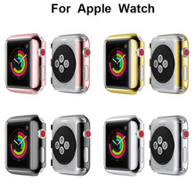 Scratchproof Watch Case For Apple Watch band 42mm 38mm iwatch series 3/2 Plating Screen protective Case Shatter-Resistant Shell crested watch pc frame protective case for apple watch band 42mm 38mm iwatch series 3 2 1 colorful plating cover shell