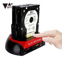 Amzdeal 2.5 3.5 inch כרטיס USB כונן דיסק קשיח IDE קורא תיבת פגז מקרה תחנת עגינה All in HDD 1 עגינה
