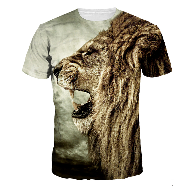 Aliexpress.com : Buy LION HEAD 3D Print Harajuku O Neck