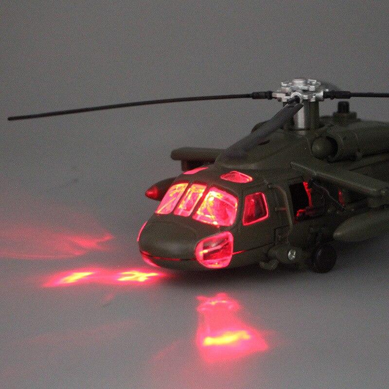 Image 3 - Сплав литой Черный ястреб, военный вертолет, модель истребителя со звуком и светильник, детская коллекция, детские игрушки-in Отлитые под давлением и игрушечные автомобили from Игрушки и хобби on AliExpress - 11.11_Double 11_Singles' Day