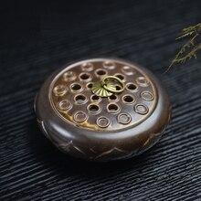 Antique Incense Burner Ceramic Coil Holder Aroma Furnace Living Room Sandalwood Censer Craft Bouddha