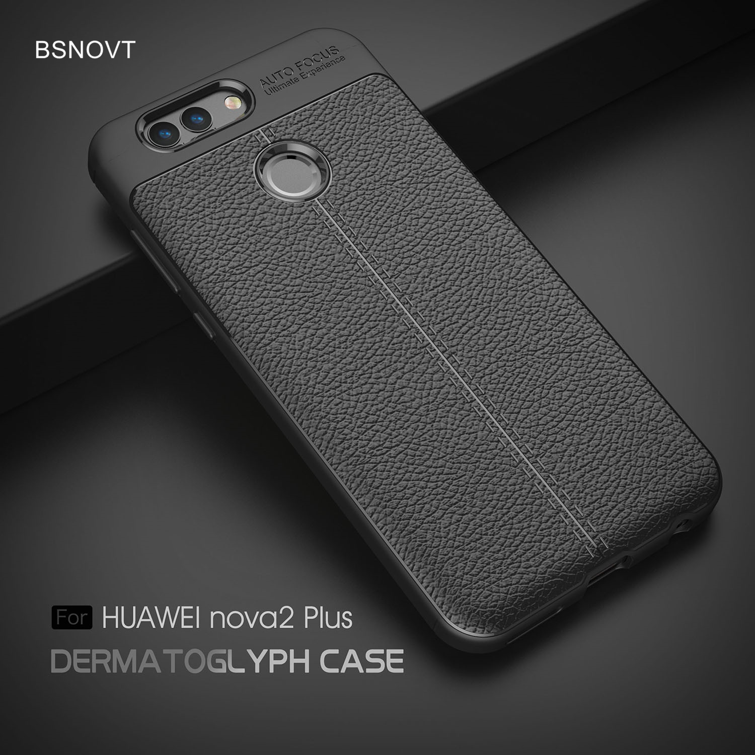 For Huawei Nova 2 Plus Case Soft Silicone TPU Leather Anti-knock Phone Cover