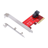 PCIe 4X NVMe U 2 SSD Adapter PCI Express To SFF 8643 With SFF 8639 MiniSAS