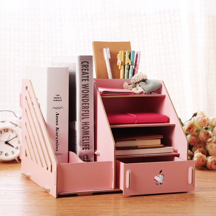 multifunction wood stationery storage box office desk organizer 252620cm wooden jewelry makeup cheap office drawers
