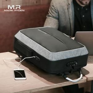 Image 4 - Mark Ryden New Anti thief USB Recharging Men Backpack NO Key TSA Lock Design Men Business Fashion Message Backpack Travel